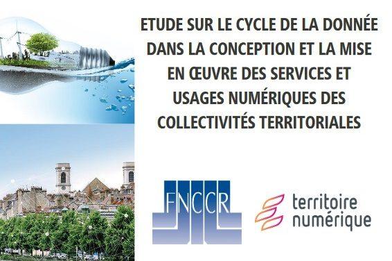 Étude FNCCR – «Le cycle de vie de la donnée»